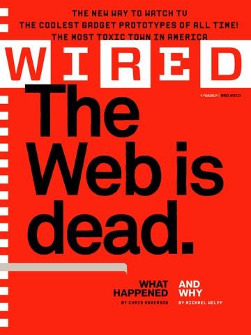 WIRED誌の最新号は「ウェブの死」を特集。