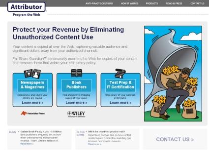 アトリビューターのウェブサイト