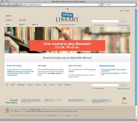 OpenLibrary トップページ