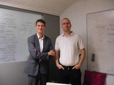 社長のJohan Greiff氏とプロダクション担当のBjörn Waller氏(右)