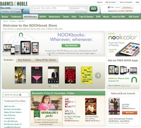 NookbookStoreは200万冊の品揃えで「世界最大」と豪語。