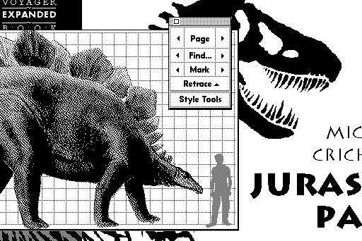 マイクル・クライトンのベストセラーを電子書籍化したエキスパンド・ブック版『ジュラシック・パーク』
