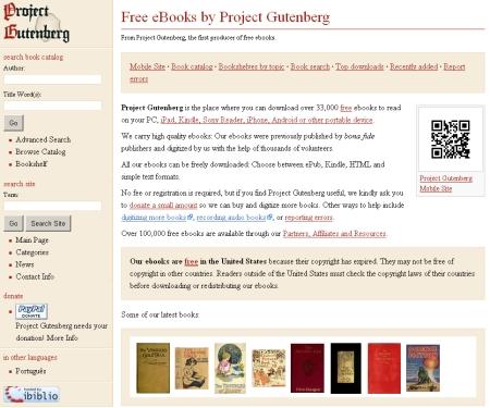 電子テキスト・アーカイブのさきがけ、プロジェクト・グーテンベルクはいまも健在。