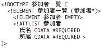 図1 スキーマ言語XML DTD による論理構造の記述