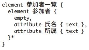 図3 スキーマ言語RELAX NG compact syntaxによる論理構造の記述