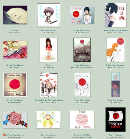 「deviantART」にあつまった日本の復興を祈るイラスト