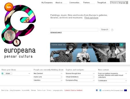 汎ヨーロッパ的なマルチメディア電子図書館「ユーロピアーナ」。