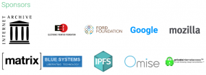 この会議のスポンサー企業一覧。